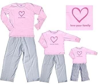 Sweet Snugs LYF Heart Pink Shirt Pant Set - Youth Small, L/S, Grey Pants