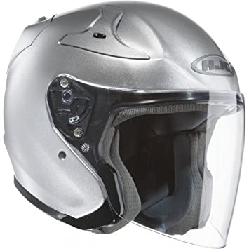 HJC casco de moto Rpha Jet CR, gris, talla XS