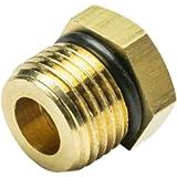 GlowShift M16 x 1.5 Male to 1/8-27 NPT Female Gauge Sensor Sender Thread Adapter Reducer