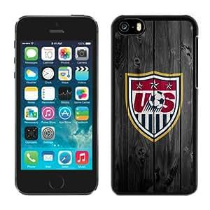 Usa Soccer (3) Black Best Sale Fantastic iPhone 5C Cover Case