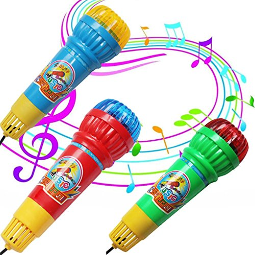 Vibola 1PCS Echo Microphone Mic Voice Changer Toy Gift Birthday Present Kids Party Song Mic Karaoke Singing Kids Funny Gift Music Toy(Random Color) (Skateboard Mic)