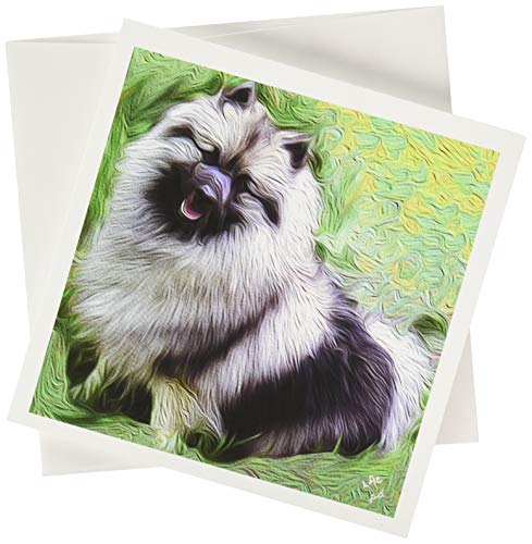 Keeshond Note Cards- Set of 6 with Envelopes by - Note Keeshond