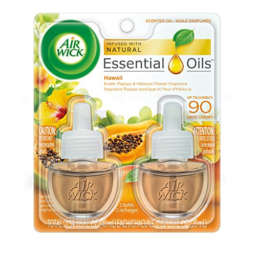 Air Wick Scented Oil 2 Refills, Hawaii, (2X0.67oz), Air Freshener