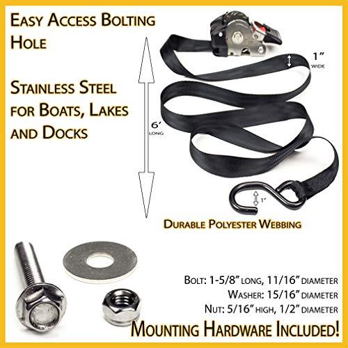 Buy smart straps retractable ratchet tie-downs