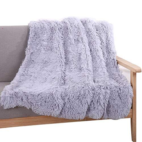 YOUSA Super Soft Shaggy Faux Fur Blanket Ultra Plush Decorative Throw Blanket - Sa Futon