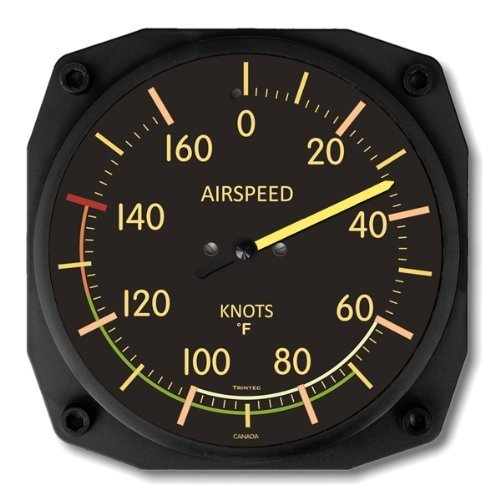 (Trintec Vintage Airspeed Indicator Thermometer 6.5 Square 9061VF by Trintec)