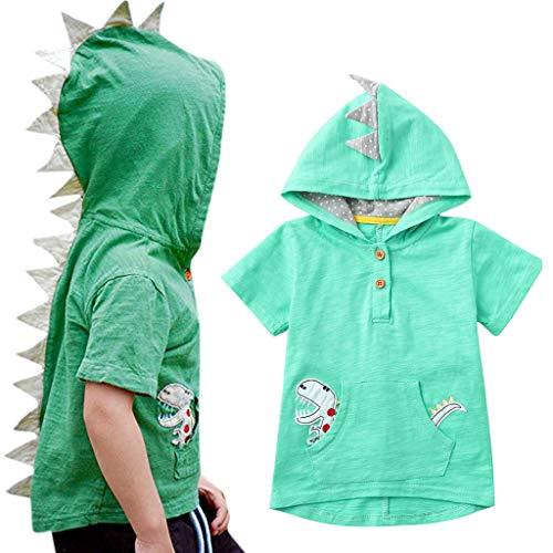 UMFunToddler Kids Baby Boys Cartoon Dinosaur Animal Hooded Tee Tops Casual Sweatshirt (2-3 -