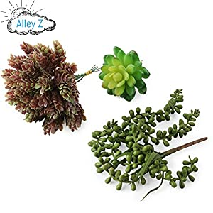 Artificial Succulent Plants Realistic Look 5 Pack 4