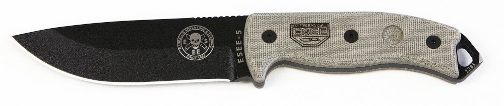 5. ESEE 5P Tactical Hunting Knife with Sheath