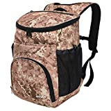 MIER Leakproof Backpack Cooler Insulated Lunch Backpack with iPad/Tablet Pocket for Men and Women to Work, Picnic, Hiking, Camping, Beach, Day Trips, 20Can