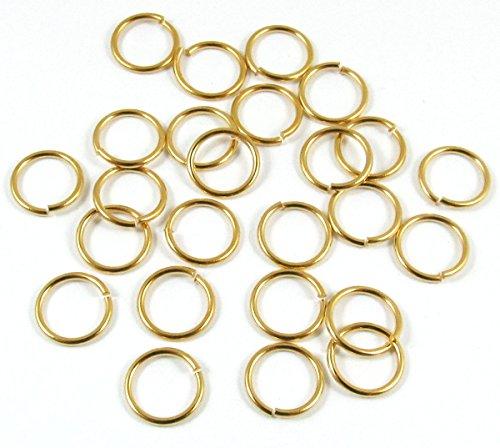 TierraCast Round 18 Gauge Open Jump Ring-GOLD 10mm (25)