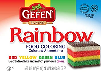 Amazon.com : Gefen Assorted Food Colors 1oz Red, Yellow, Green and ...