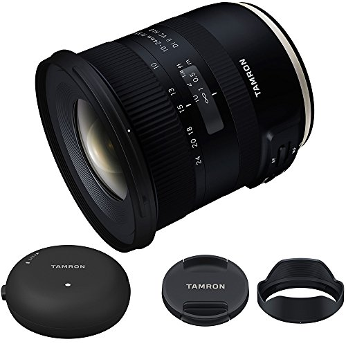 Tamron 10-24mm F/3.5-4.5 Di II VC HLD Lens B023 For Canon (AFB023C-700) with Tamron TAP-In Console Lens Accessory for Canon Lens Mount