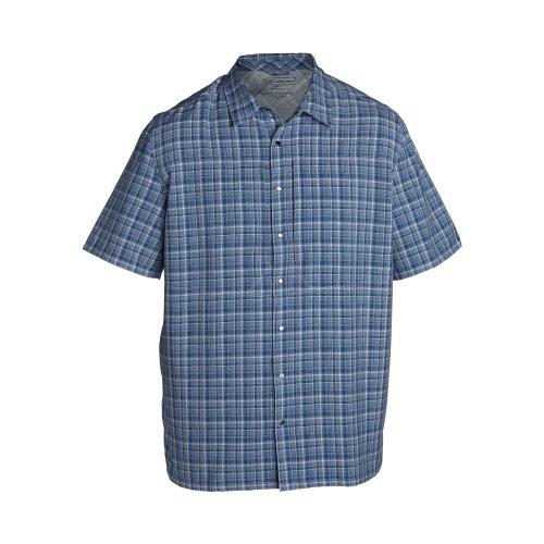 Nylon 5.11 Tactical Vest (5.11 Tactical Men's Covert Shirt Performance S/S (XXL, Cobalt))