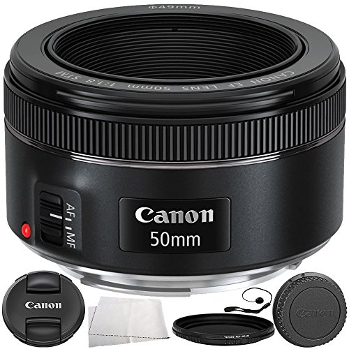 Canon EF 50mm f/1.8 STM Lens 6PC Accessory Bundle