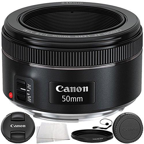Canon EF 50mm f/1.8 STM Lens 6PC Accessory Bundle