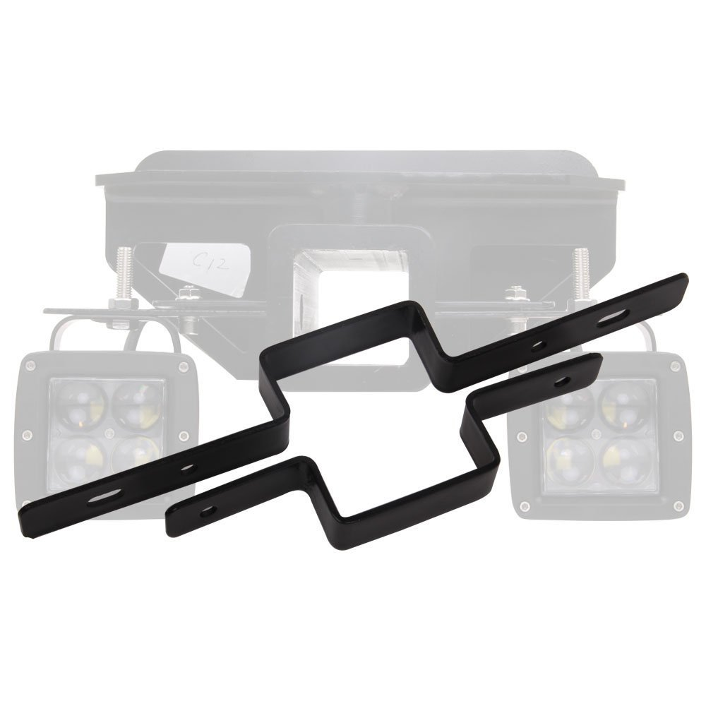 2 Tow Light Bracket Steel Tow Hitch Mounting Bracket Dual LED Backup Reverse