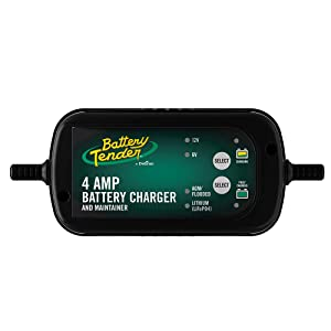 Battery Tender 6V/12V, 4A Selectable Lead Acid & Lithium Battery Charge