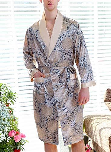 Uomo Pajama Da Accappatoio E Summer Pantaloni Pigiama Stile Due Set Pezzi Comodo Homewear Leggero Loungewear Blau Semplice Z5WAWq1n