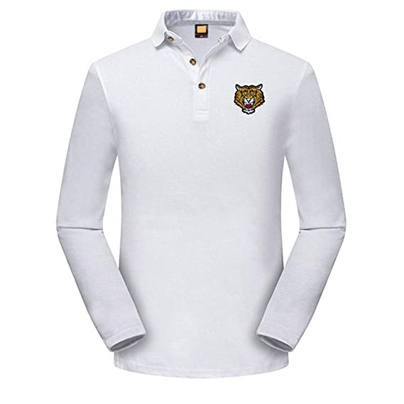 La Blusa Superior Delgada Ocasional de la Camiseta del Bordado de la Manga de los Hombres