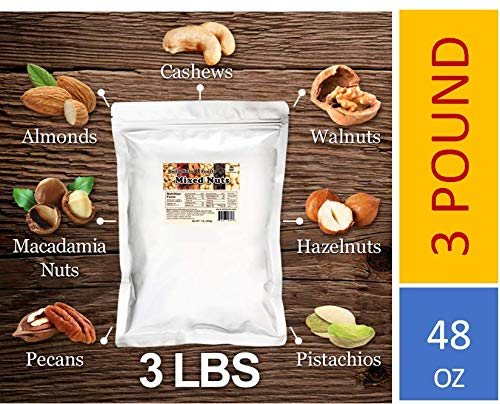 Daily Nuts Bulk Mixed Nuts (Super Mixed Nuts, 3 LB) (Nut Super)
