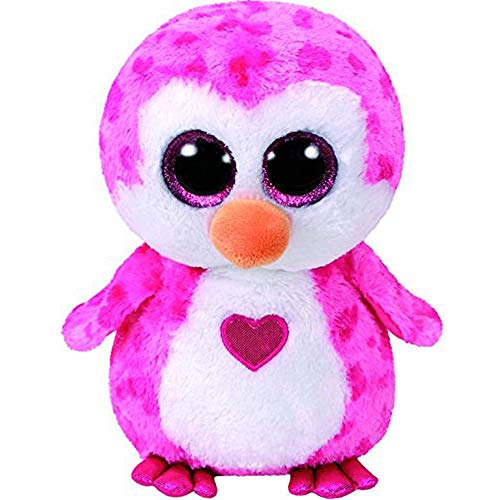 Stuffed & Plush Animals - Ty Beanie Boos 6 Quot 15cm Valentines Juliet The Pink Penguin Plush Regular Soft Big Eyed Stuffed - Tiger Beanie Bracelet Lamb Rodney Backpack Tiny Zinger Horse Leop