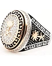 silver ring for men,size 9