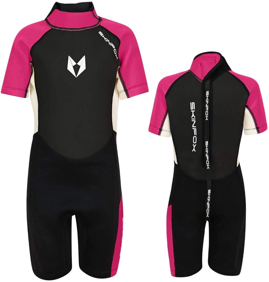 Kinder Shorty Neoprenanzug Schwimmanzug pink SKINFOX Scout 2-16 J