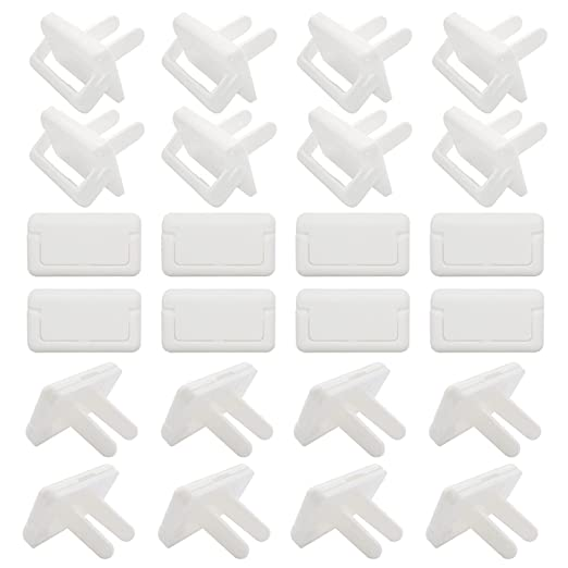Amazon.com : WeinaBingo Outlet Covers, 24 Pack Baby Safety Wall Outlet Protectors with Hidden Pull Handle, Child Proof Electrical Outlet Plug Covers, Baby Proofing White Outlet Power Socket Covers 2 Prong : Baby