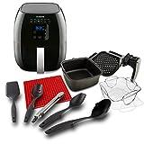 NuWave Brio Digital Air Fryer Ultimate Air Frying Package Includes 5 Piece Utensil Set