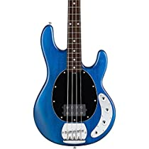 Sterling by Music Man S.U.B. Ray4 Electric Bass Guitar Satin Blue Rosewood Fingerboard