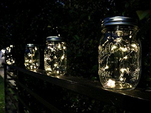 6 Pack Solar Mason Jar Insert Lids Led Mason Jar Lights