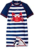 Wippette Baby Boys Stripes Crab One Piece Rash