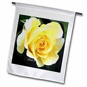 Lee Hiller Designs Roses - Pale Yellow Rose - 12 x 18 inch Garden Flag (fl_5029_1)