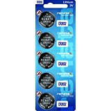 1 X Strip of 5 Genuine renata CR2032 3v Lithium 2032 Coin Batteries Freshly Packed by renata - Use by 2017 by Renata