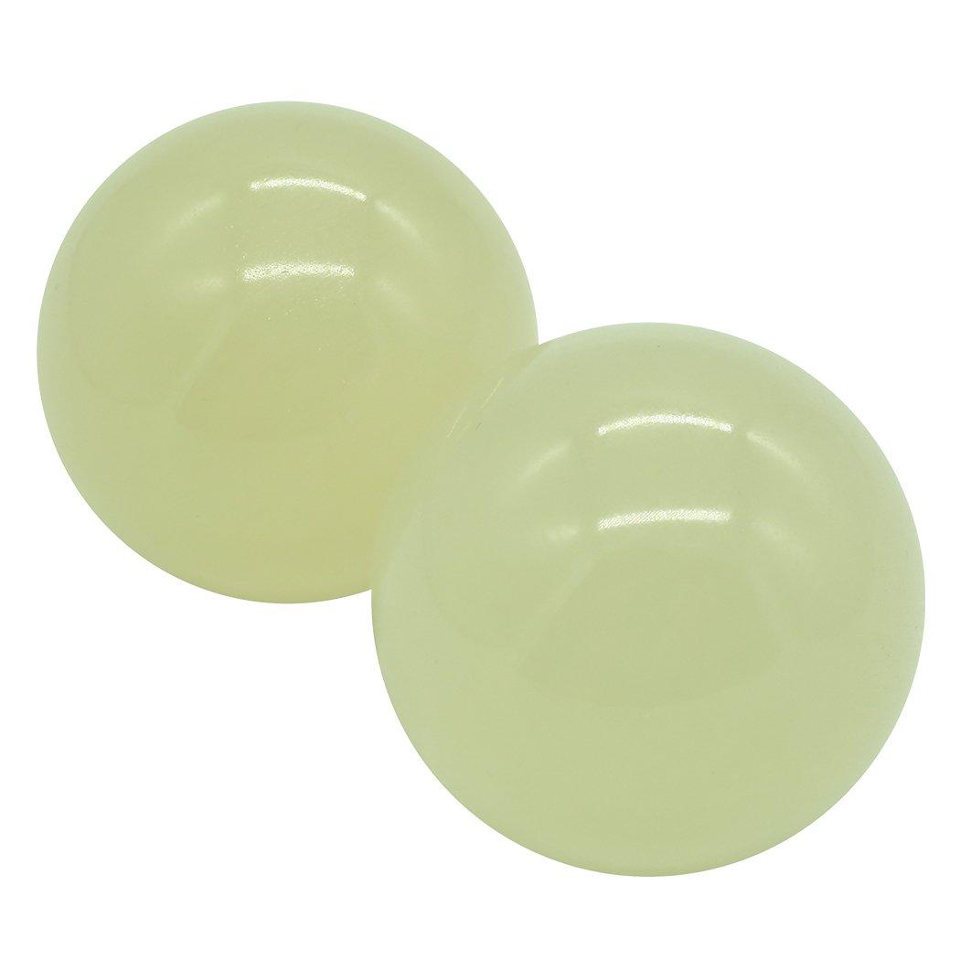 Afghanistan Jade Baoding Citrine Chinese Health Stress Exercise Balls (Light Green)BS166