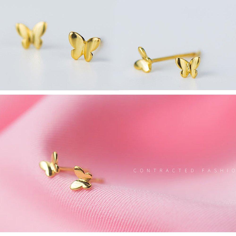 Bigbabybig Deer Stud Earrings Women Real 925 Sterling Silver Zircon Girls Tiny