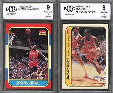 9427690d2ba 1986-87 fleer complete set with MICHAEL JORDAN rookie including stickers  BGS BCCG 9