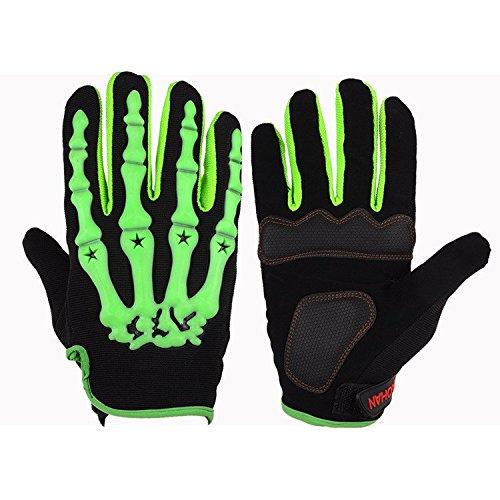 Kungken Cycling Racing Sport Bike Mountain Bicycle Motorcycle Padded Ghost Skeleton Bone Gloves