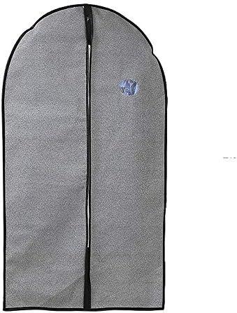 収納 洋服カバー衣類収納ケース ホコリ防止 出し入れラクラク 旅行と衣類の保管のための3つの不織布衣服バッグスーツバッグのセットシャツシャツコートにはジッパーと透明ウィンドウが含まれています大きいサイズ+中サイズ (Color : Gray, Size : L+M)