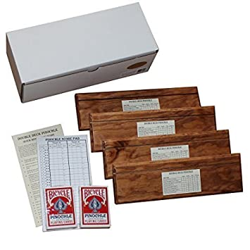 Amazon.Com: Double Deck Pinochle Card Holder Gift Set: Includes 4