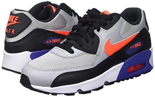 Nike Air Max 90 Mesh (gs) Sneaker Collection Actuelle 2016 Différentes Couleurs Gris