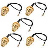 uxcell 5 Pcs RF0.81 Soldering Wire IPEX3 to SMA Antenna WiFi Pigtail Cable 10cm Long for Router