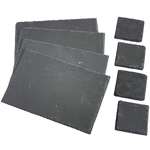 vonshef-8-piece-set-4-x-placemats-4-x-coasters-natural-slate