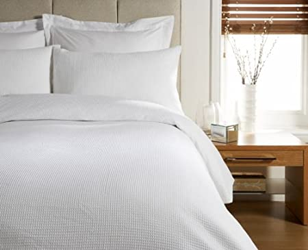 White King Bed Size Waffle Print 300 Thread Count Luxury Egyptian