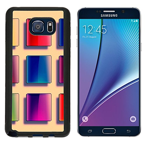 (MSD Premium Samsung Galaxy Note 5 Aluminum Backplate Bumper Snap Case Set of web buttons made a a of glass shiny colorful squares IMAGE 19866914)