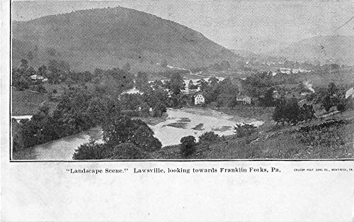 Lawsville Pennsylvania scenic view looking to Franklin Forks antique pc Z23094