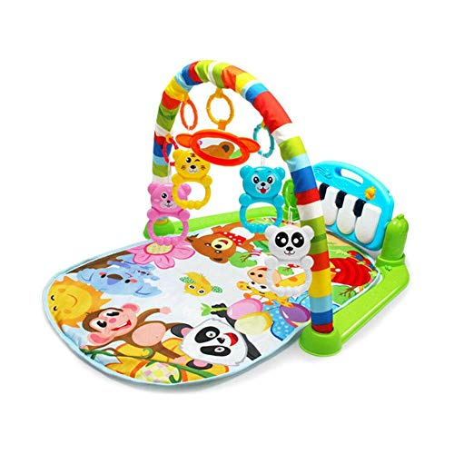 Sanmubo 4 in 1 Fitness Music Fun Piano Boys Girls Kick and Play Newborn Toy with Piano Play Mat Activity Gym for Baby Baby Kick and Play Piano Playmat