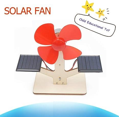 Ventilador Solar Eléctrico Experimento Científico Tecnología Modelo Rompecabezas Creativo Ensamblar Juguete: Amazon.es: Deportes y aire libre