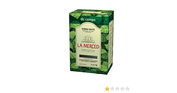 Amazon.com : La Merced Yerba Mate con Palo, 500-Gram Boxes (Pack of 5) : Black Teas : Grocery & Gourmet Food